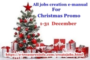 Jobs creation e-manual Xmas promo