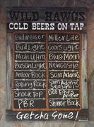 Chalkboard Beer Sign - Wild Hawgs Smokehouse