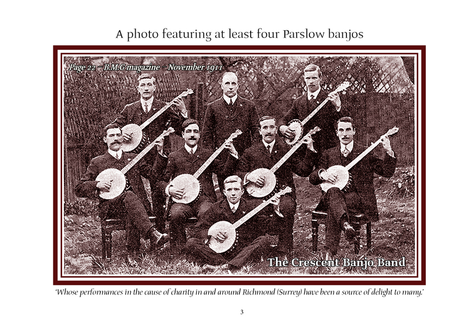 The Crescent Banjo Band -- BMG Nov 1911