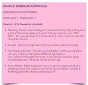 Customized Wedding Plan - Before the Bells