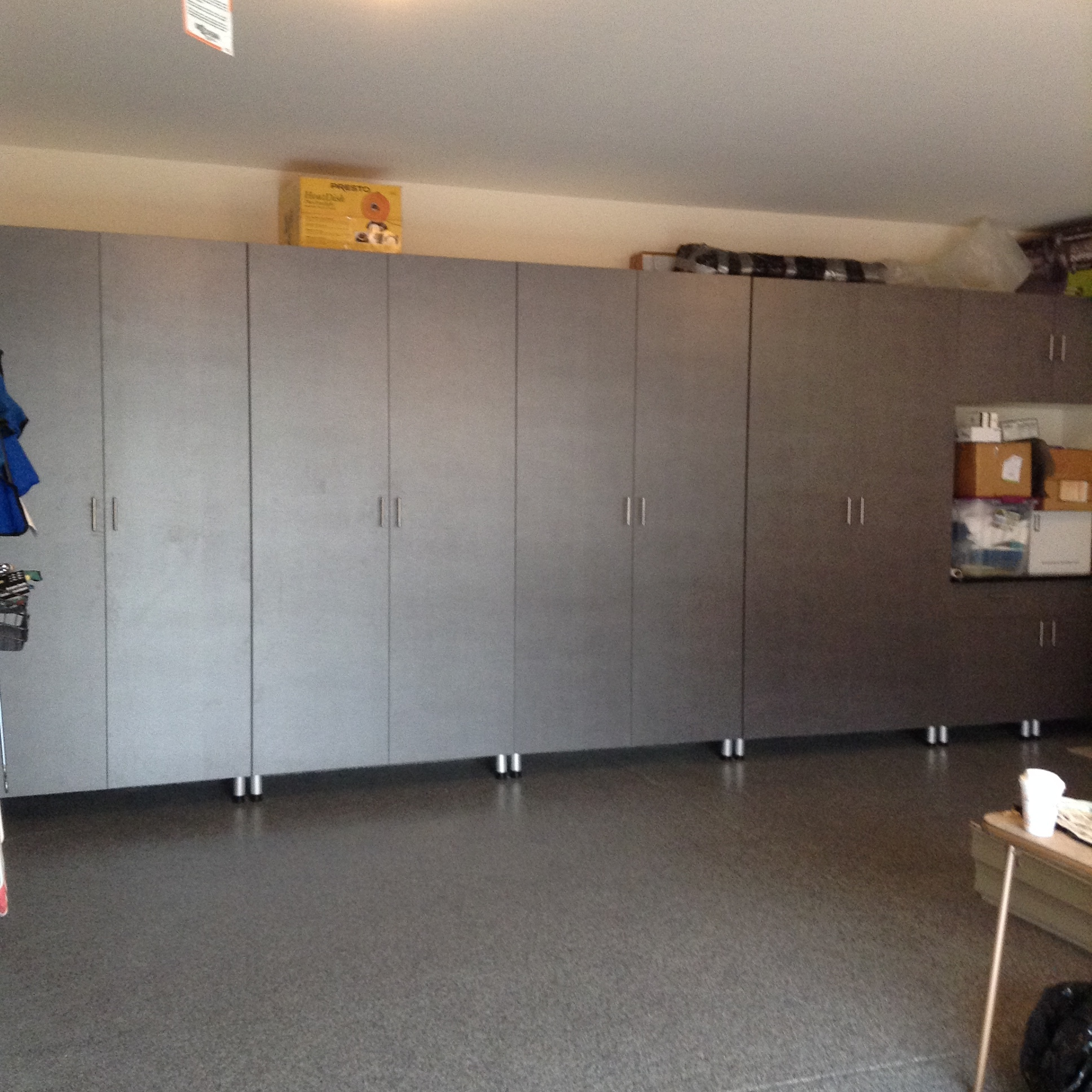 Finished projects-garage cabinets and epoxy floor