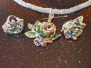 Flores siderales esmaltadas 092