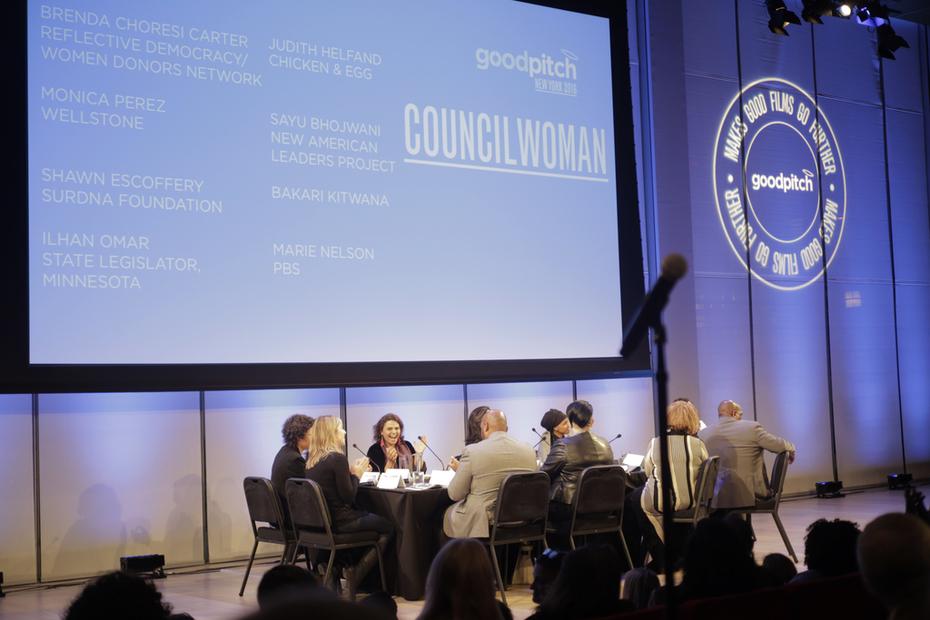 Councilwoman team at GoodPitch NY 2016