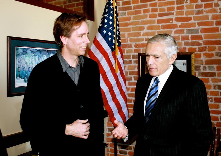 With General Wesley Clark