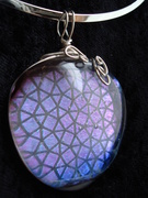 Dichroic Patterned Glass Pendant