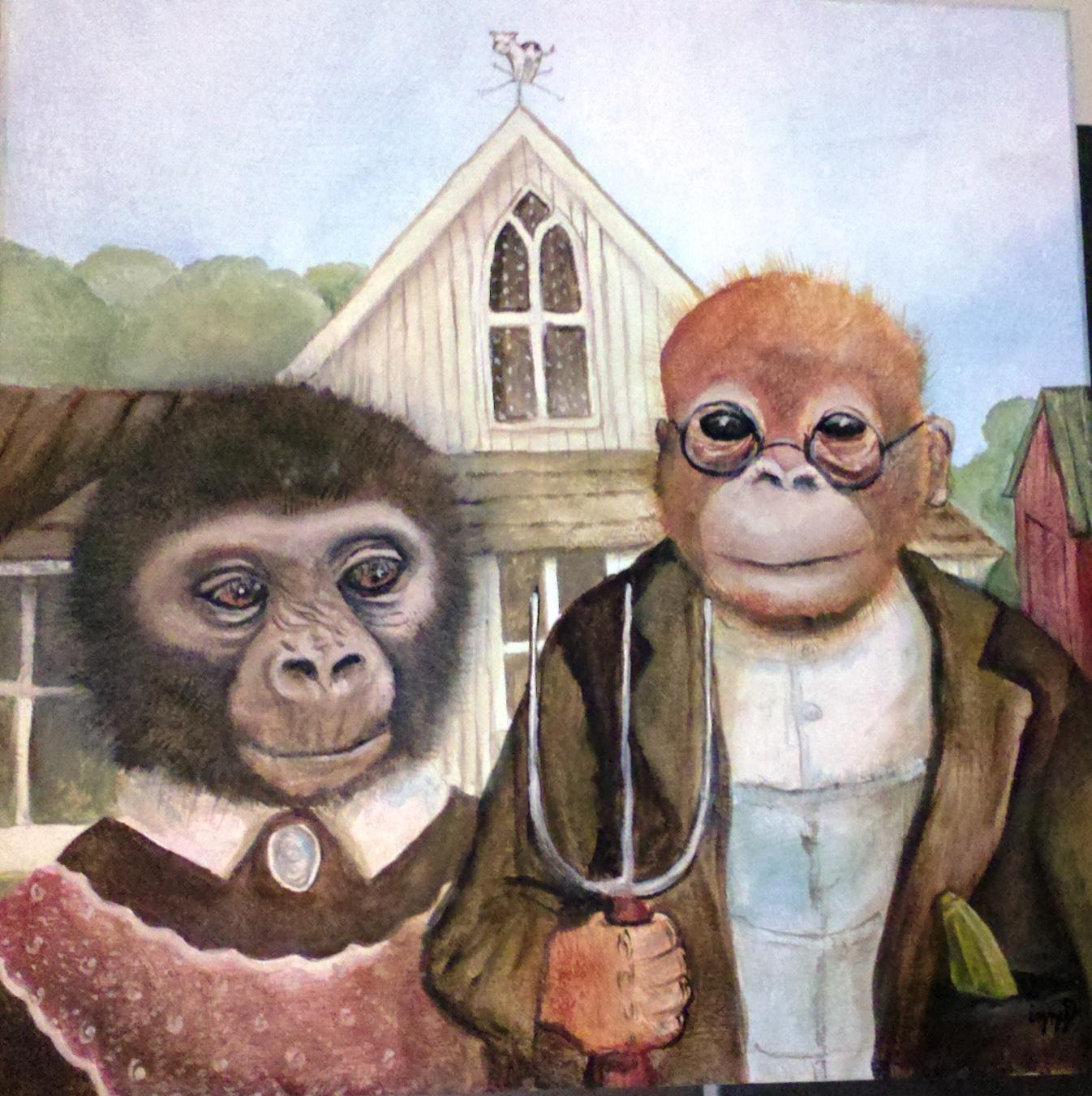 American Gothic in Monkeys