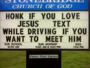 A Funny Pastor's Sign