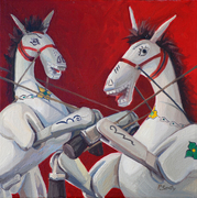 Horses in Red