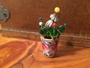 Vintage Floral Thimble with Flowers