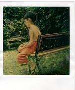 the child in the garden