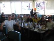 group shot at diner