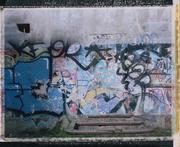 Walled door in abandoned quarry