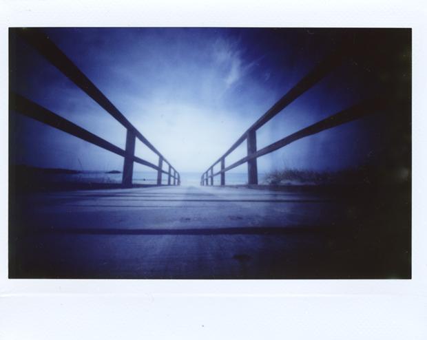 """The Bridge"" - pinhole homemade_Fuji_Istax_wide"