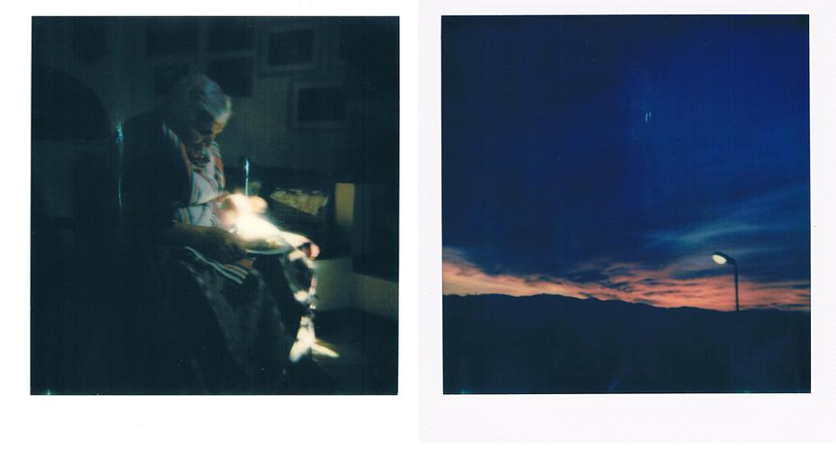 Nonna.Al tramonto.