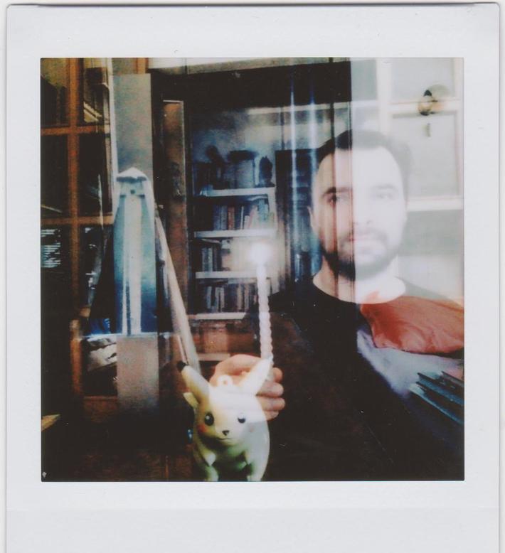 doppia esposizione con cognato, candela, metronomo