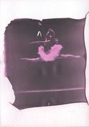 Ominocoibaffi_Ballerina 1_LIFT OFF Impossible 600 black & red_Polaroid 690