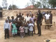 isaack joackim with children in Dar es salaam, Makongo  service