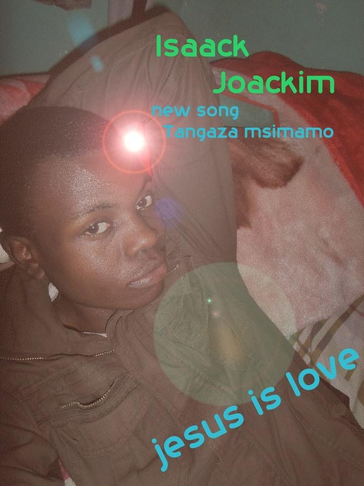 isaack joackim gospel singer and graphics designer