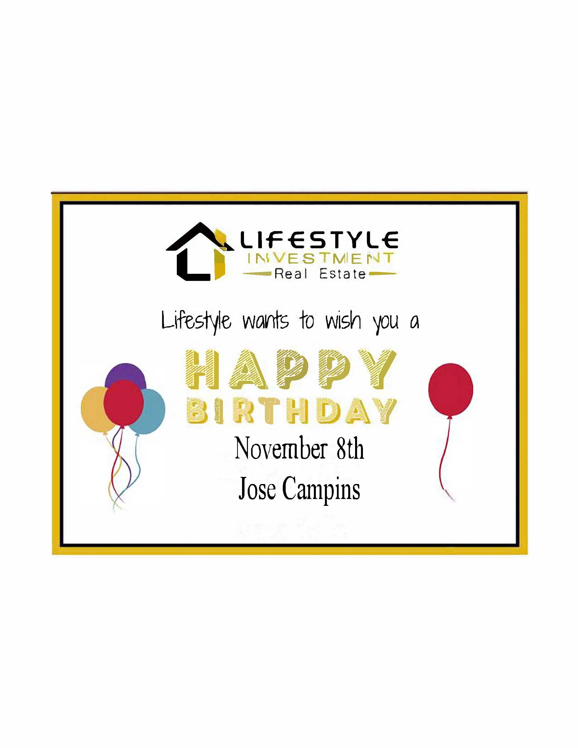 Jose Campins Birthday
