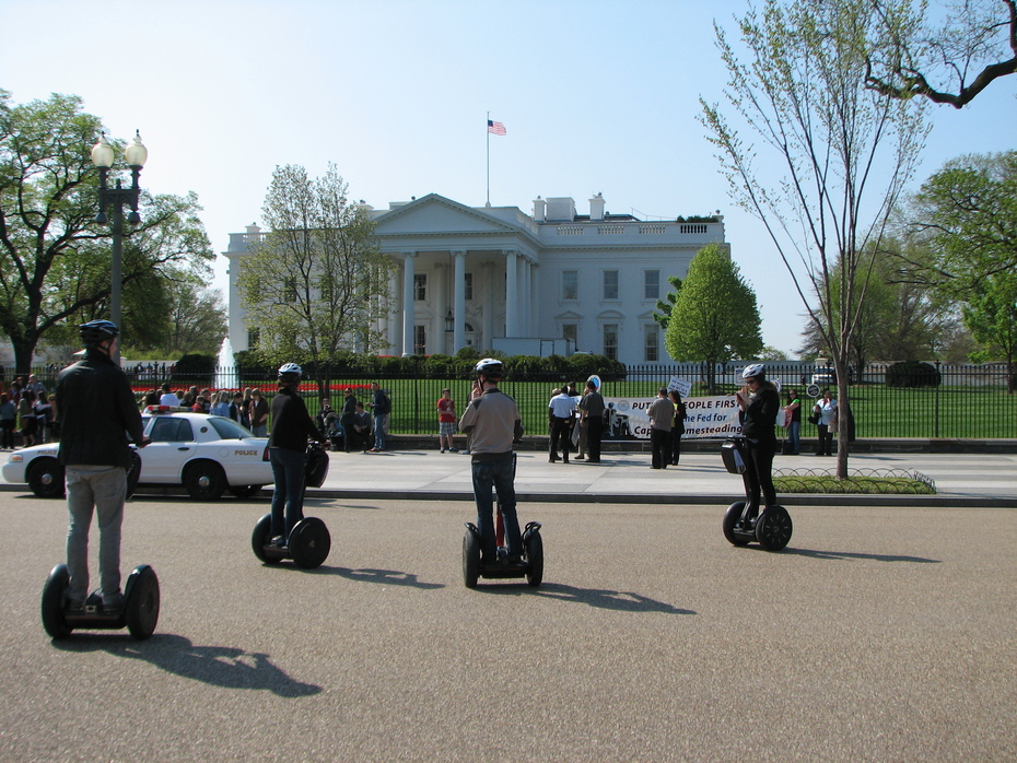 Segway Riders witness the Coalition's presentation before the White House