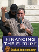 Peter Hayes speaks at the FED Rally 2011