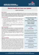 Mental Health Act Case Law Update 08.09.16