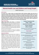 Mental Health Law and Children and Young People 27.09.16