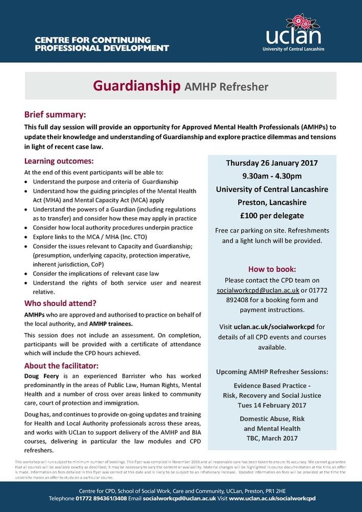Guardianship AMHP Refresher 26.01.17