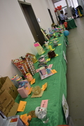 Display of recycled products made by students