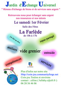 "Jardin d'Echange Universel - ""Bourse locale"" du 1er février"