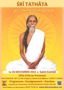 Programme de Sri Tathata le 26 Novembre 2014 à St Cannat