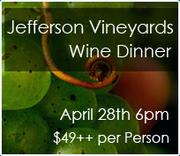 Jefferson Vineyards Wine Dinner
