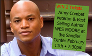 **WIN 2 Tickets to Wes Moore at the Sandler Center