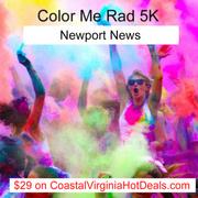 31% off  COLOR ME RAD 5K  Newport News