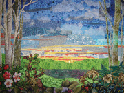 Art Quilts: Moment of Solitude by Elizabeth Sylvan
