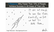 7 reasons why fewer than 10% of people live the life they imagined