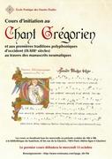 Initiation au Chant grégorien et premières polyphonies