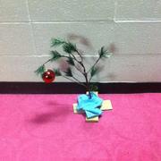 My #friend's #christmastree #christmas #tree #charliebrown