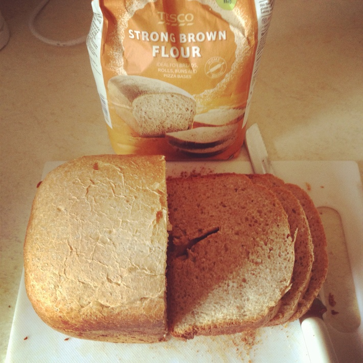 Tasty brown bread out of the breadmaker