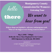 Montgomery County Commission for Women's Listening Tour