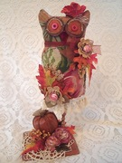 Fall Fabric Owl