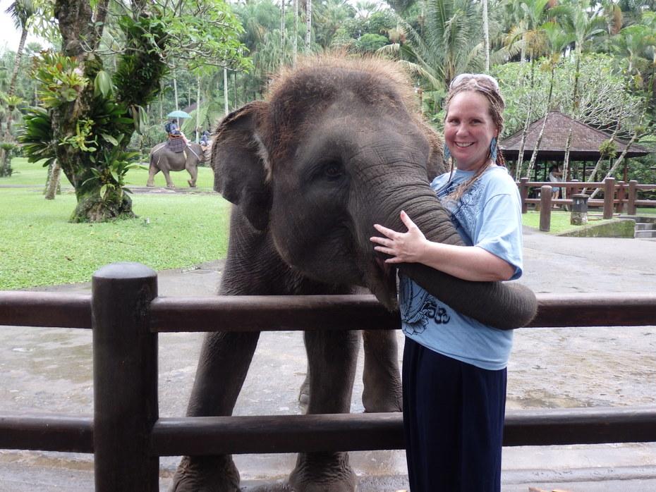Maria & Baby Elephant1