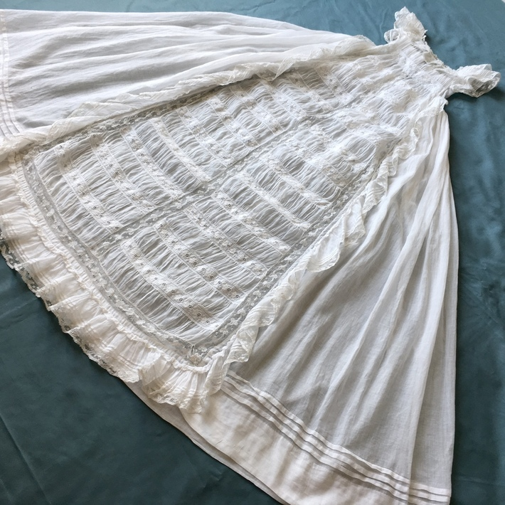 Antique French christening gown