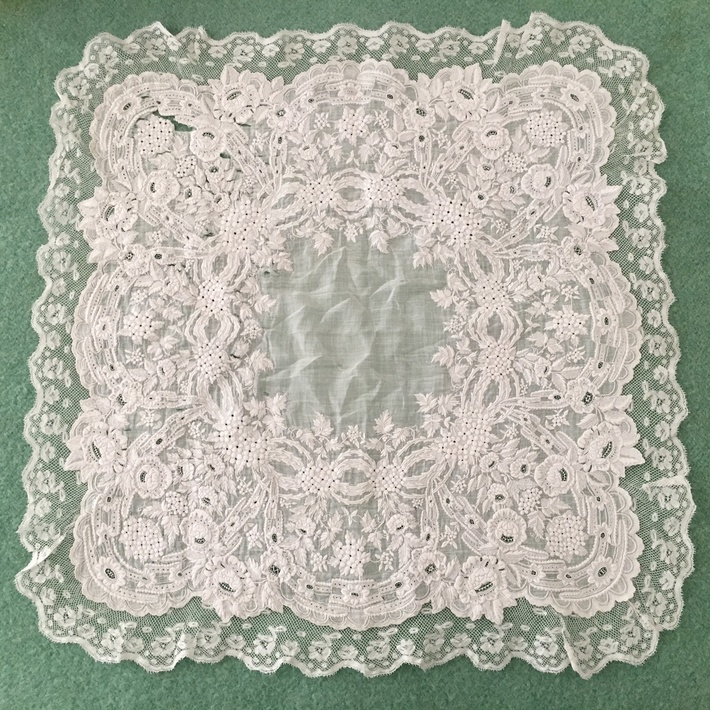 French antique handkerchief