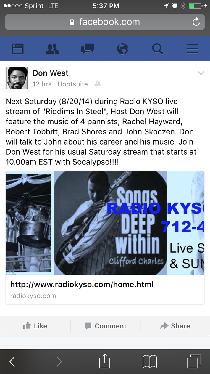 DON WEST & KYSO SHOW: RIDDIMS IN STEEL