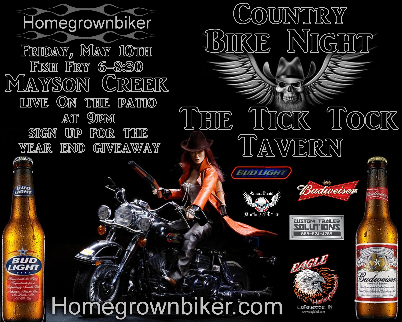 Homegrownbiker Bike Night Tick Tock