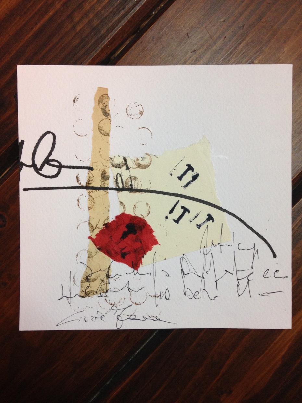 """Cinzia Farina - """"asemic"""" per Amalgamated Confusion, USA"""