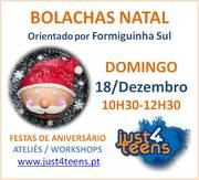 CRIANÇAS: Workshop Bolachas decoradas - Natal