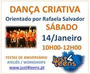 Workshop Dança Criativa orientado por Rafaela Salvador