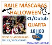 CRIANÇAS: Baile de máscaras de Halloween